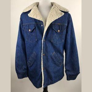 Maverick Ranch Coat Denim Jean Jacket Sherpa lined